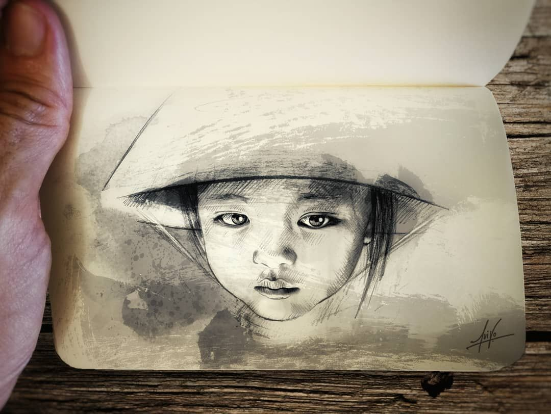 Arte Vietnam English Apunte Cần Thơ Vietnam Dibujo Draw Drawing