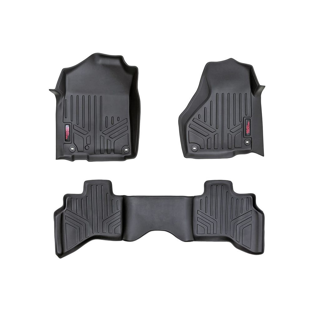 Rough Country Floor Mats For The Quad Cab Dodge Ram 1500 With Full