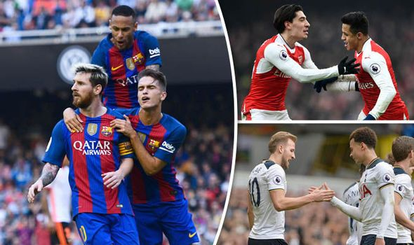 Barcelona transfer odds Arsenal duo top list of Premier League - best of epl table