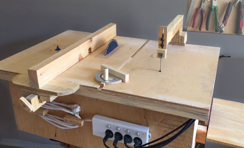 Homemade 4 In 1 Workbench Table Saw Router Table Disc