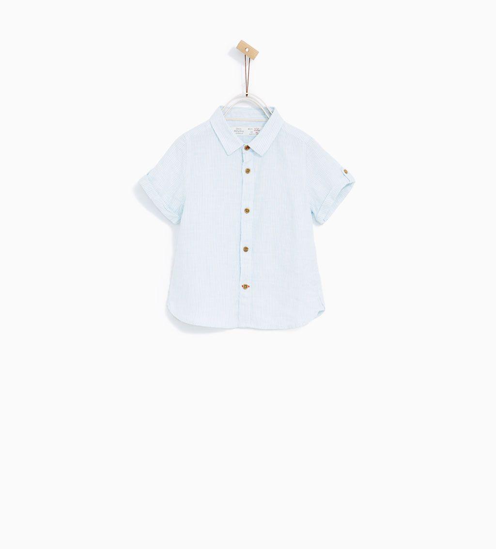 VERTICAL STRIPED LINEN SHIRT Toddler Boy Fashion b1af9f7eb34