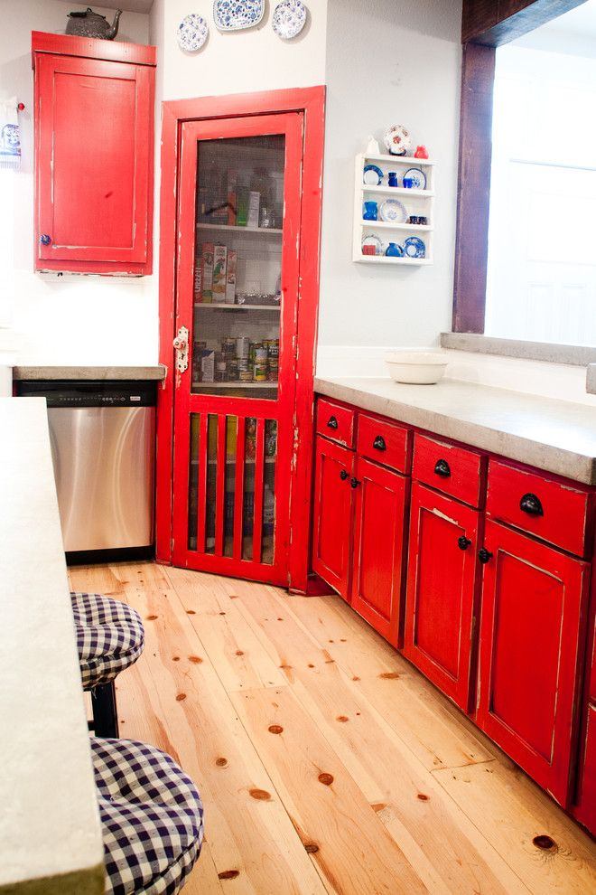 Pin by Austin Lee on Ideas for the House   Red cabinets ...
