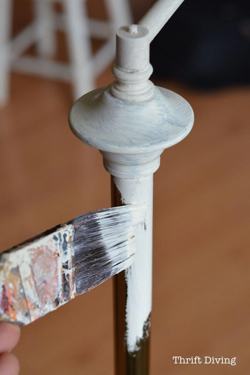 Paint Lamp Base White With Chalk Paint Thrift Diving