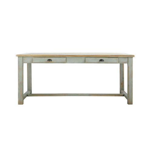 Mesa rectangular de madera reciclada