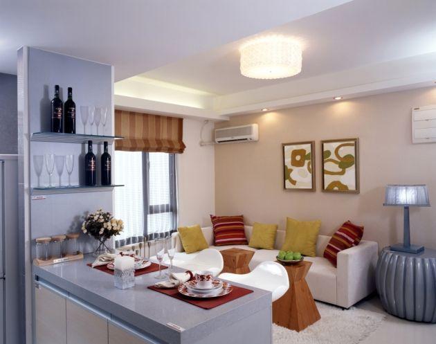 Decoración en espacios pequeños sala-cocina | Decoraciones para ...