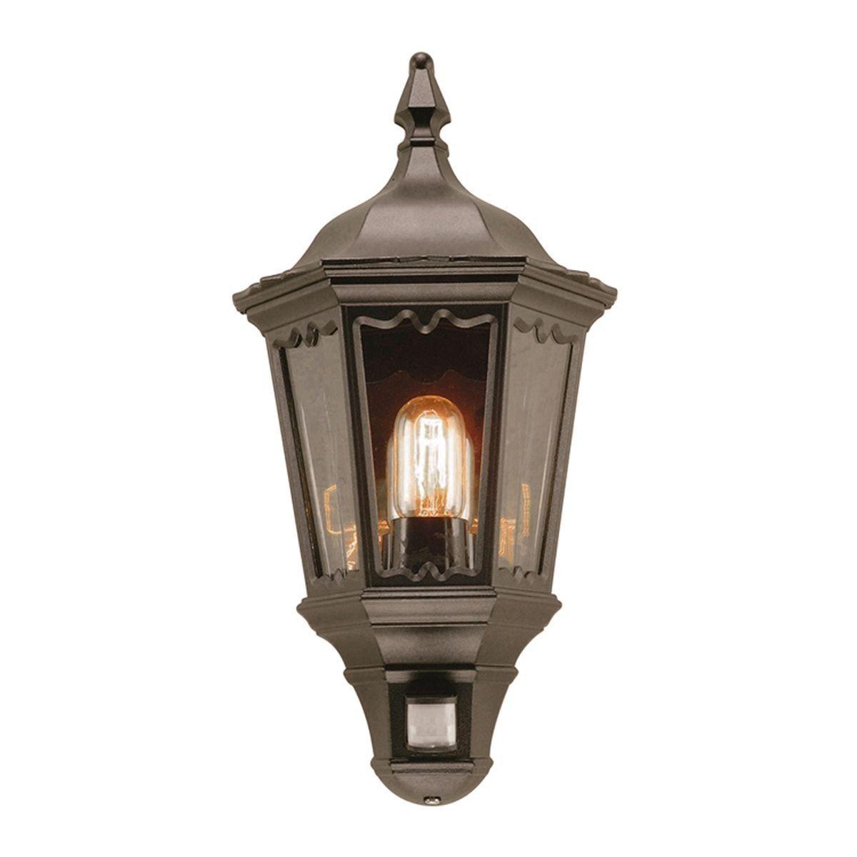 Medstead Half Black Elstead Lighting Kinkiet Ogrodowy Md7 Pir B Wall Lantern Outdoor Wall Lantern Outdoor Lanterns