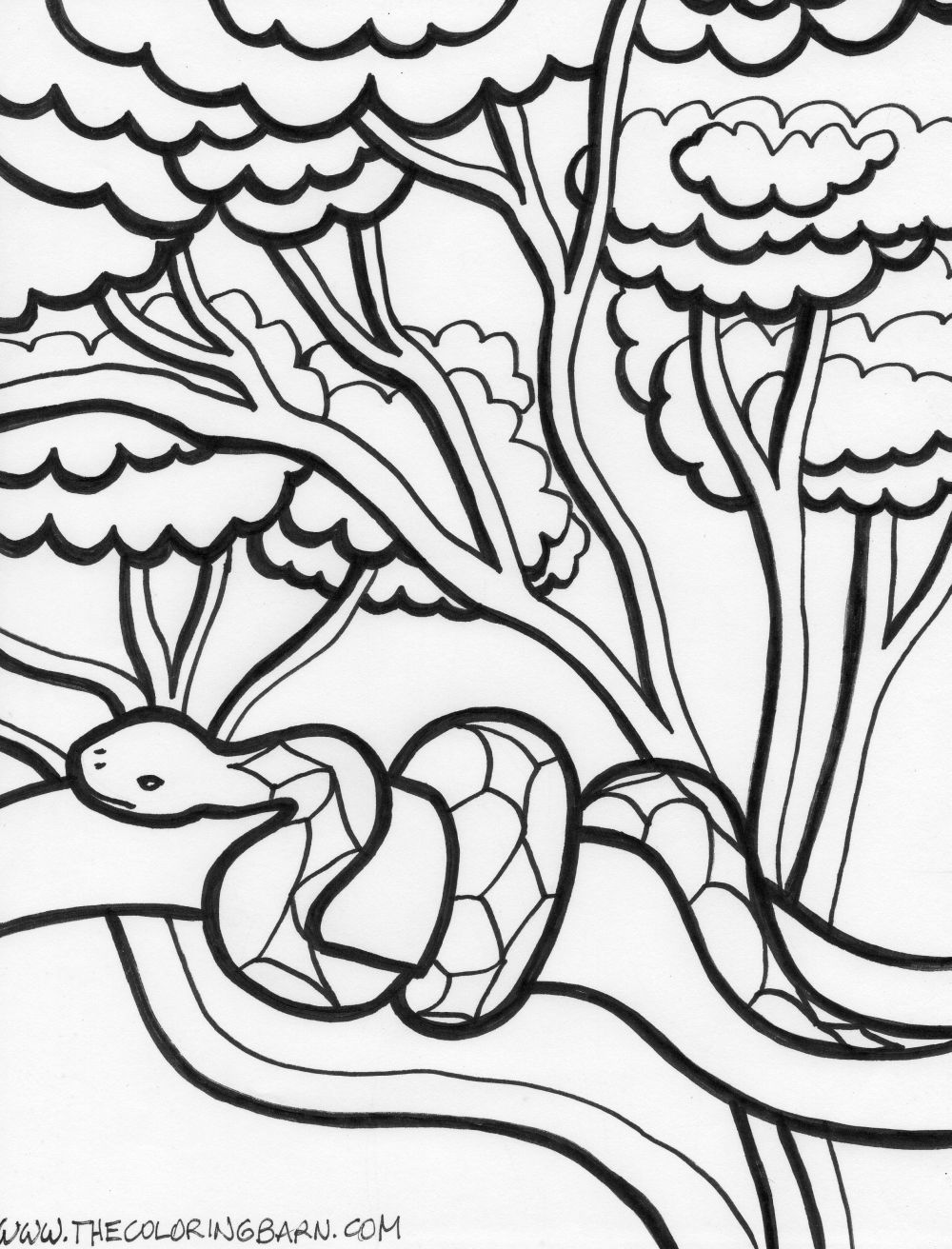 Coloring picture Printable snake