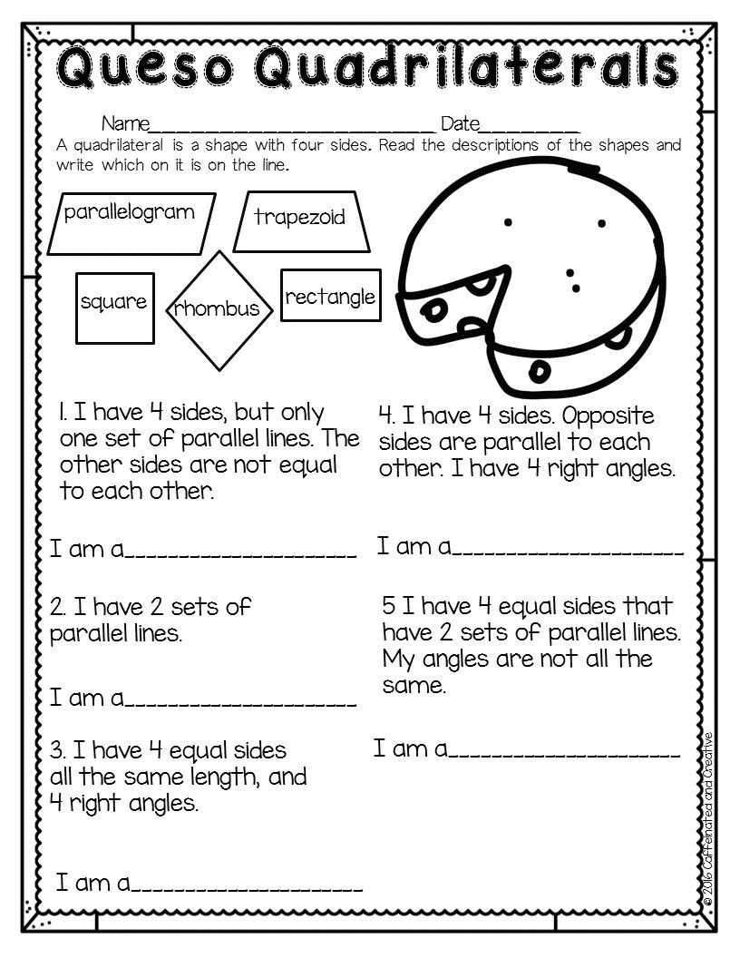 Spring Into Spring Guided Math Quadrilaterals Activities 3rd Grade Math