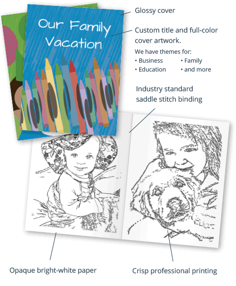 Create a Coloring Book Online | Crisp Professional Printing | Free ...