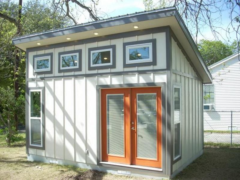 Slant roof small shed plans ideas slant roof small shed for Shed office interior