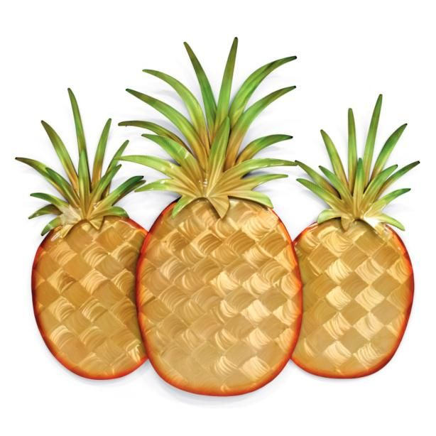 Pineapple Trio Wall Decor by Copper Art | Kitchen | Pinterest | Wall ...
