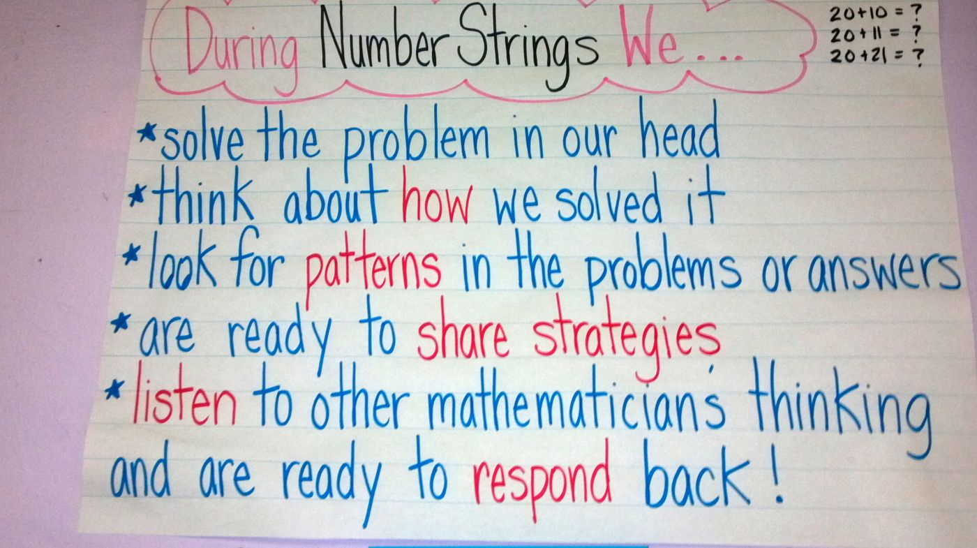 The Power of Strings   Math talk, Number talks, Teaching math
