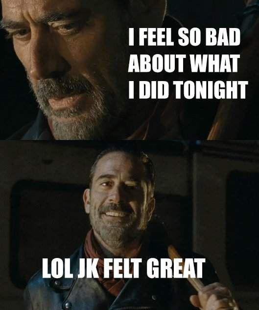 Walking Dead Memes Negan Edition With Images Walking Dead