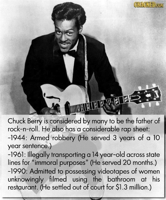 21 Beloved Famous People Everyone Forgets Did Awful Things #Music
