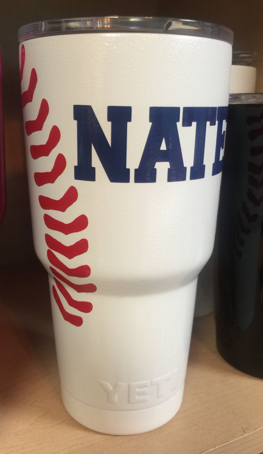b992b9f8892 Baseball Personalized Yeti Tumbler with Laces and Name by ...