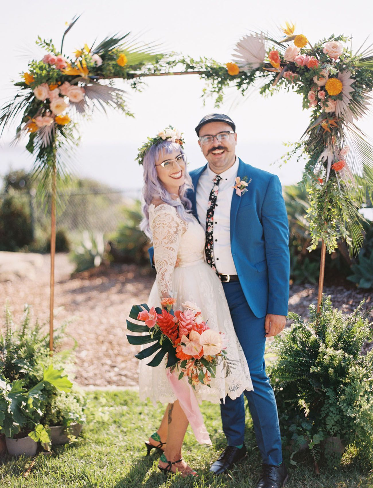 Talk About Tropical Colorful Tiki Bar Themed Wedding In San Diego