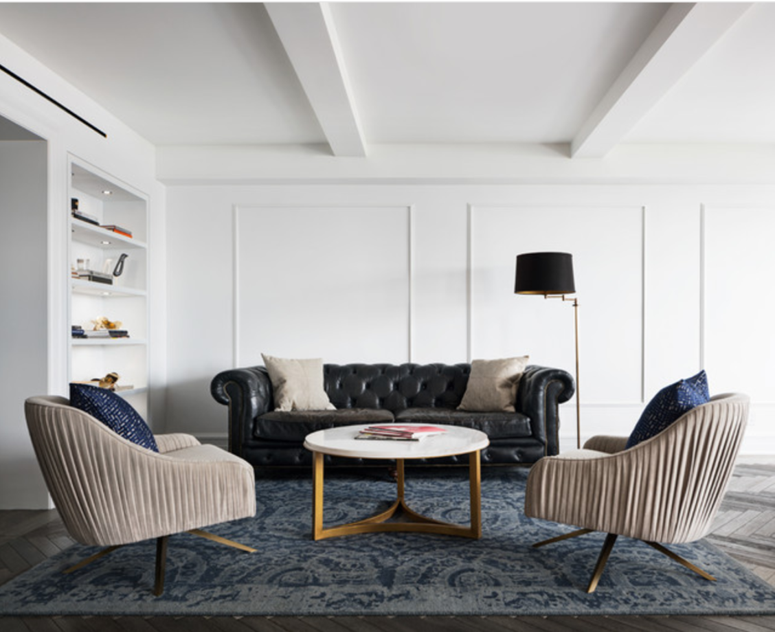 Two Roar + Rabbit Swivel Chairs Staged Perfectly In This Modernist Living  Room Seen On Houzz!