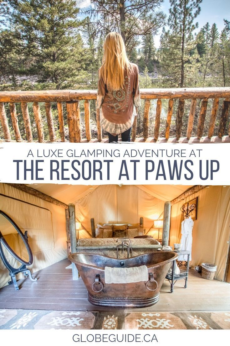 The Resort at Paws Up is one of the best resorts in #Montana, offering guests a luxurious, all-inclusive #glamping getaway paired with cowboy experiences.    #USA | #Travel | #Luxury