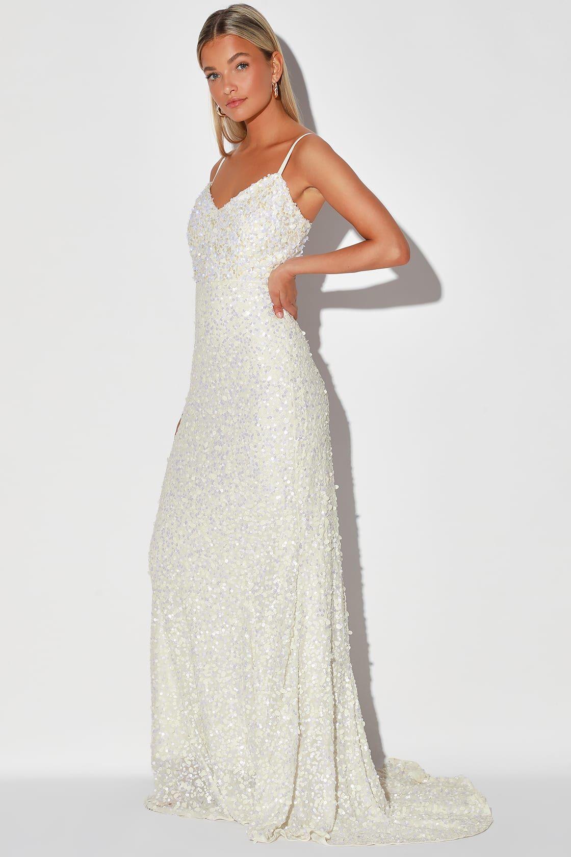 At Last White Sequin Mermaid Maxi Dress Wedding Dress Sequin Dresses Magenta Dress [ 1680 x 1120 Pixel ]