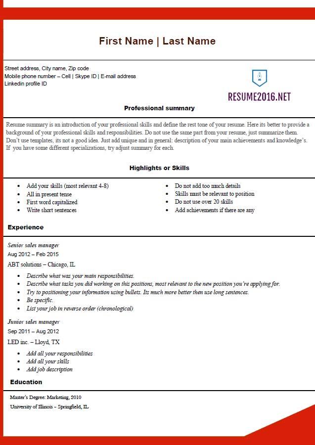 Free Resume Template   Gandaaa    Free