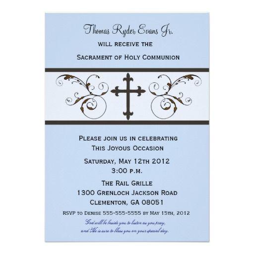Modern Communion Invitations For Boys Zazzle Ca First Communion