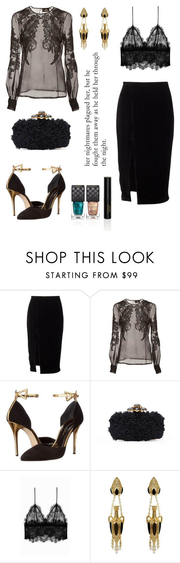 """""""He."""" by schenonek ❤ liked on Polyvore featuring J. Mendel, Oscar de la Renta, Anine Bing and Gucci"""
