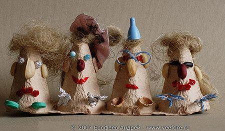 Поделки. Смешные человечки из упаковки для яиц - Игры с детьми - Babyblog.ru - поделки с детьми человечек
