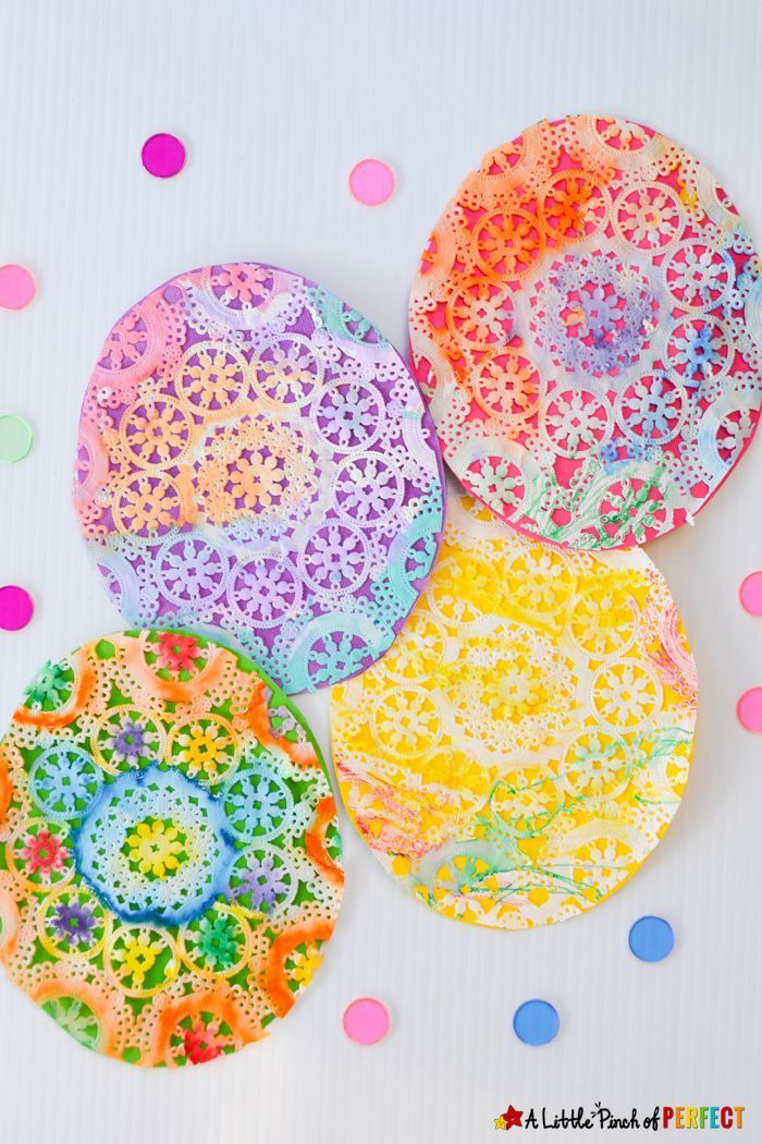 Beautiful Easter Egg Doily Craft For Kids Inspired By Rechenkas Eggs An Easy Step