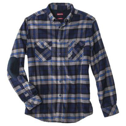 c5121a8b87 Merona® Men s Long Sleeve Flannel Shirt - Gray Blue Plaid Target ...