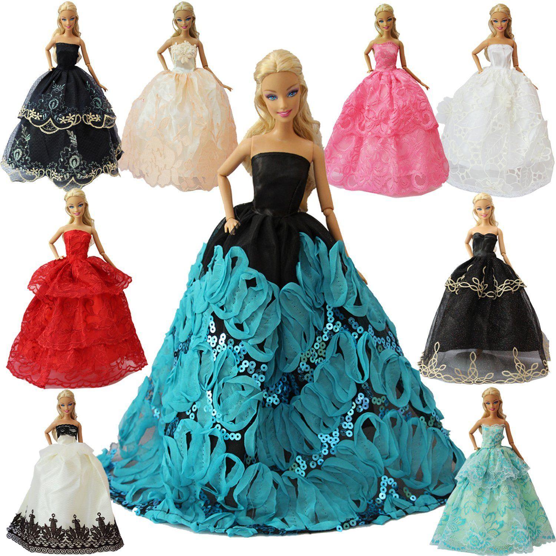Amazon.com: ZITA ELEMENT Lot 15 item= 5 Handmade Fashion Party Dress ...