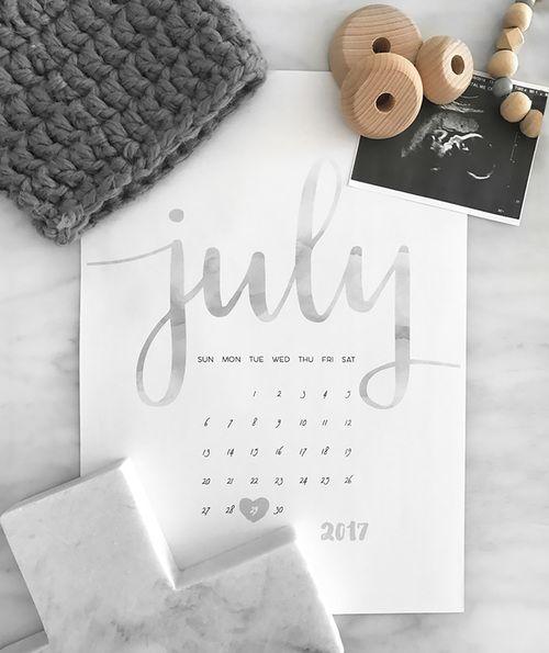 Pregnancy Announcement Calendar - HARRY (DIY Print) 10 Little