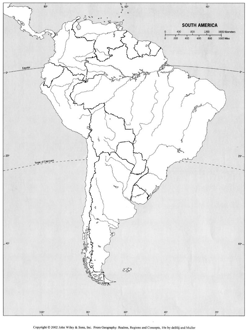 Map of S.A. | North america map, South america map, Central ...