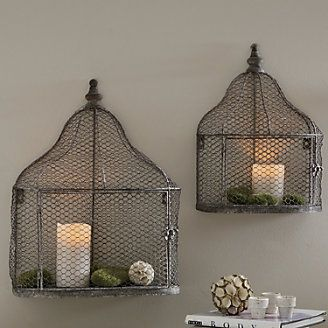 Set Of 2 Decorative Birdcages