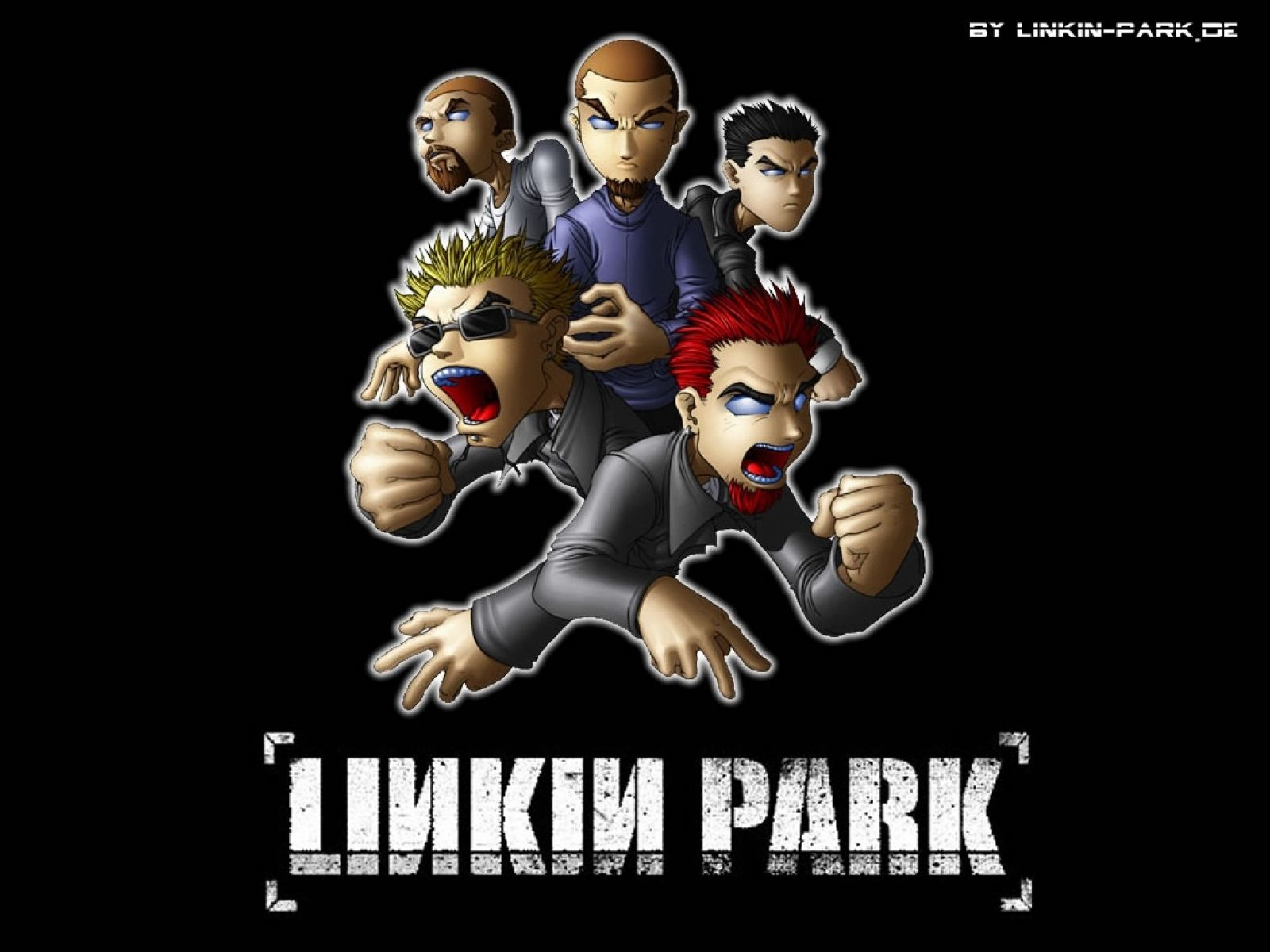 Download Free Linkin Park Cartoon Gang Mobile Wallpaper Linkin