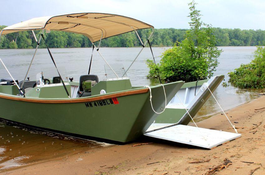 Landing Craft Door On Garvey Dory Boat Plans Boat Plans Aluminum