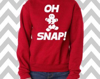 oh snap gingerbread man youth unisex sweatshirt christmas cookie sweatshirt hogwarts sweatshirt ugly christmas sweater holiday