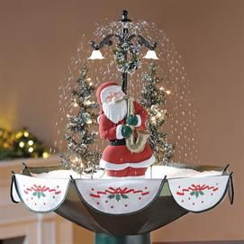 Snowing Holiday Tabletop Santa With Saxophone And Music Christmas Decor Brylaneho Holiday Tabletop Christmas Decorations Ornaments Christmas Tree With Snow