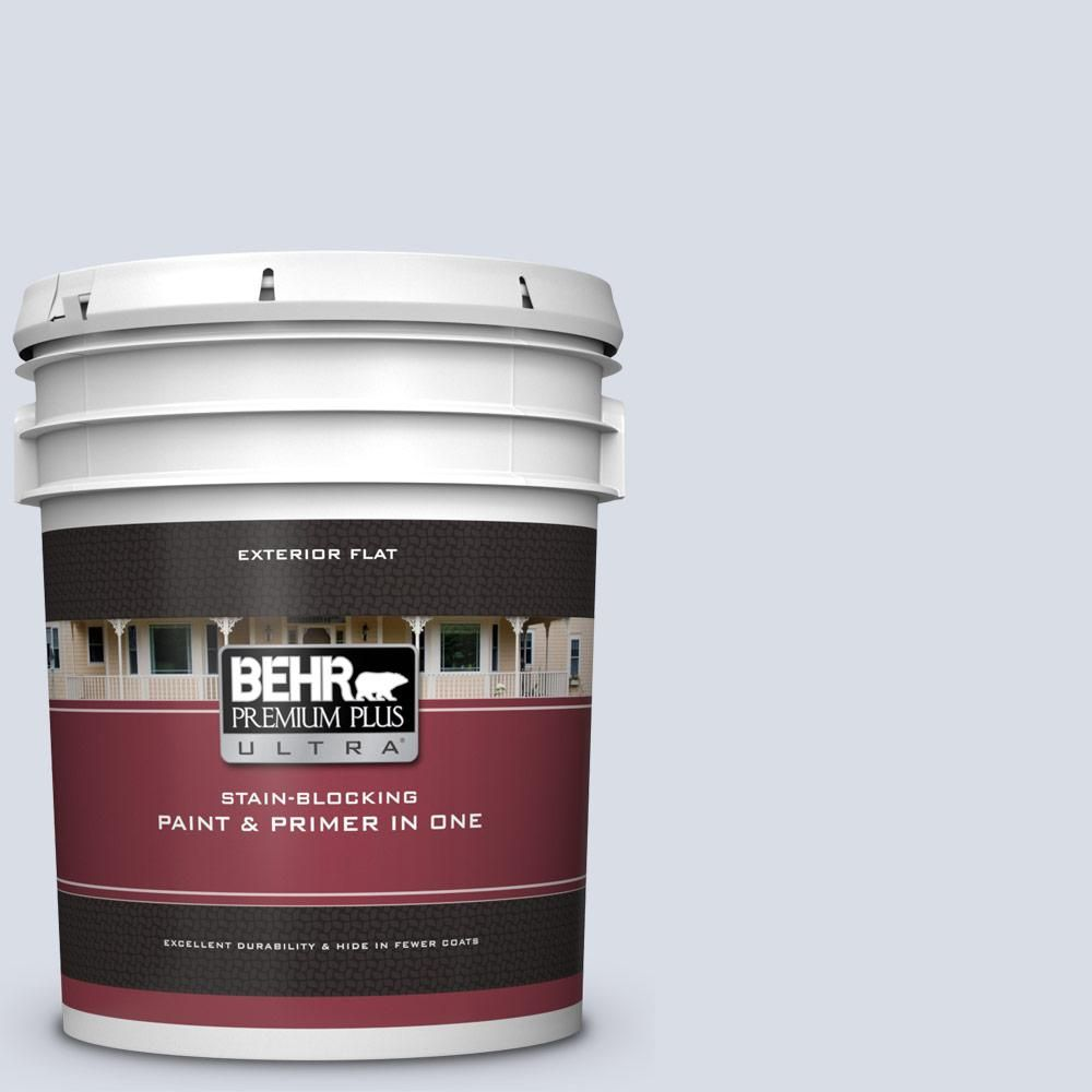 Behr Premium Plus Ultra 5 Gal Mq3 26 Mainsail Flat Exterior Paint And Primer In One Behr Exterior Paint Flat Interior