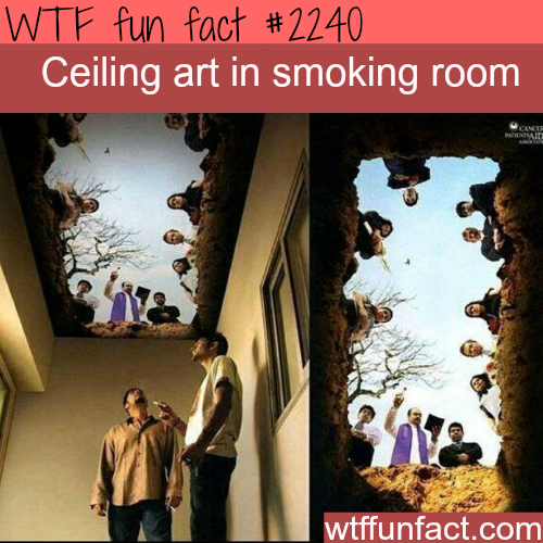 Ceiling art in smoking room -WTF fun facts