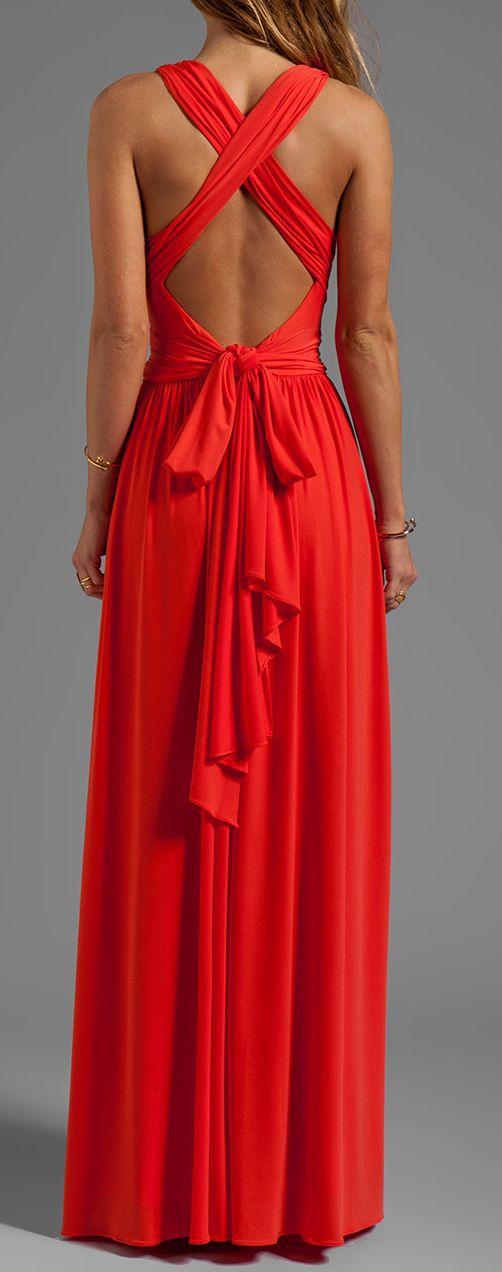 Coral tie maxi | Fashion, Pretty dresses, Beautiful dresses