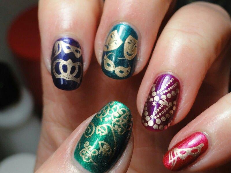 Mardi Gras nail art   Nail arr   Pinterest