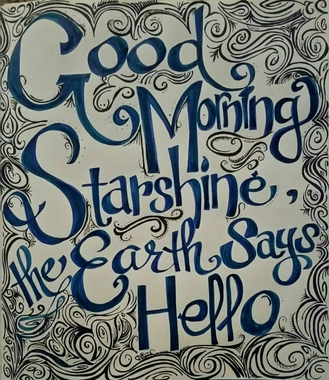 """""""Hello Starshine, the Earth says hello."""" Line from Willa Wonka(Tim Burton version) such a cute quote ladened with layers of meaning. My first attempt at original layout, mixed mediums. Mix of..."""