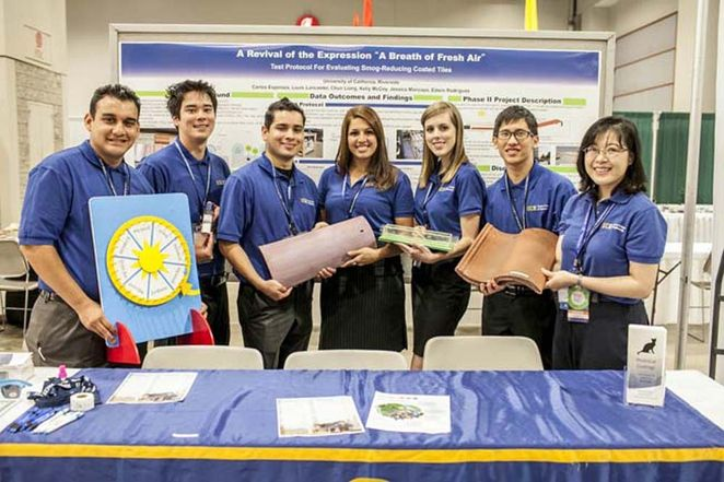 students create smog sucking roof tile,  battling air pollution!!