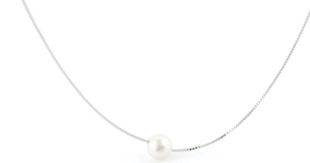 eLiasz and eLLa- City Pearl Necklace- Silver