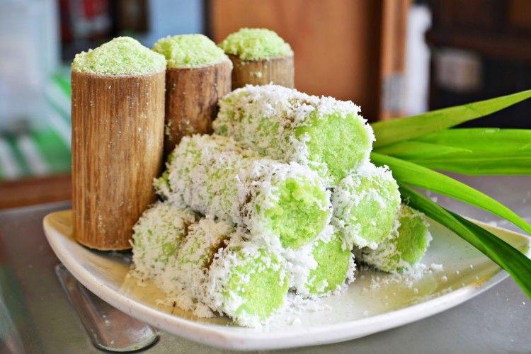 Resep Kue Putu Bambu Asian Desserts Indonesian Desserts Indonesian Food
