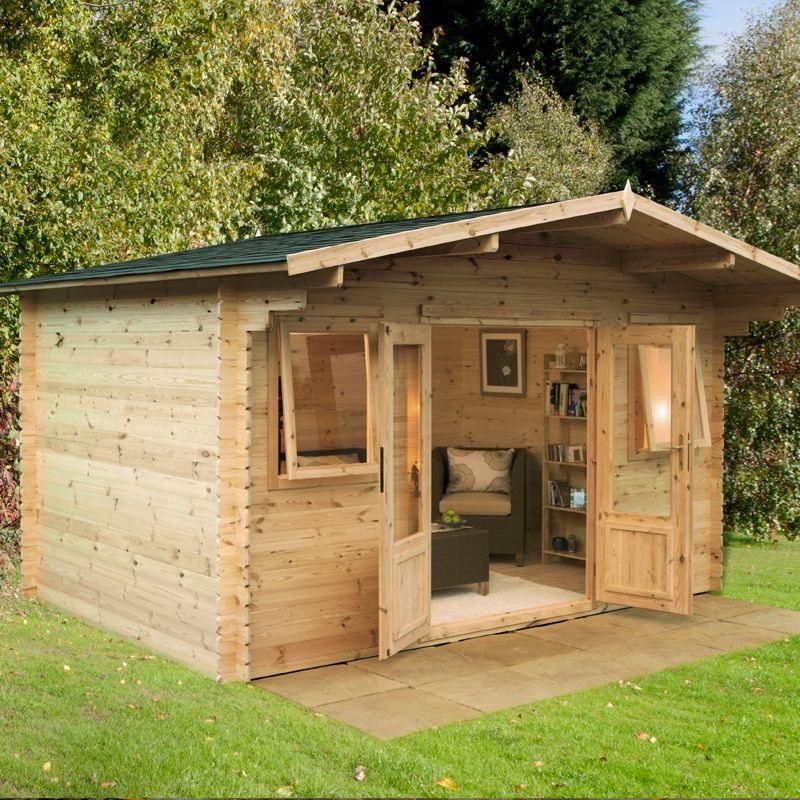 Genial 4 X 4m Rutherglen 34mm Log Cabin