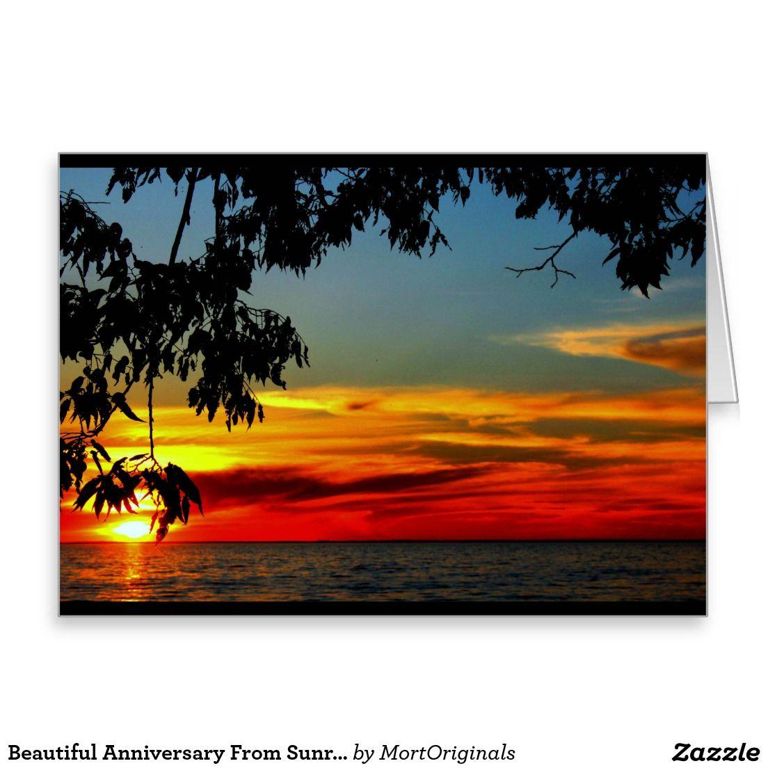 Beautiful Anniversary From Sunrise To Sunset Card Zazzle