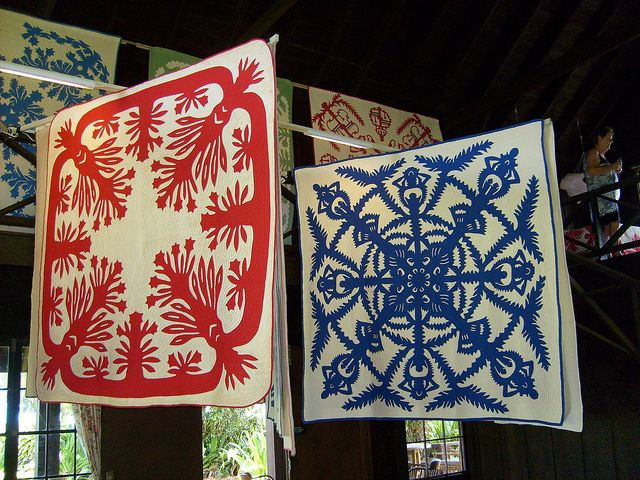 Hawaiian applique quilts from the wilcox collection in hanalei