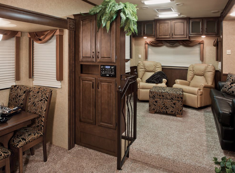 front living room fifth wheel. Super Luxury Fifth Wheel RV  KZRV Designs Tri Level Stone Ridge