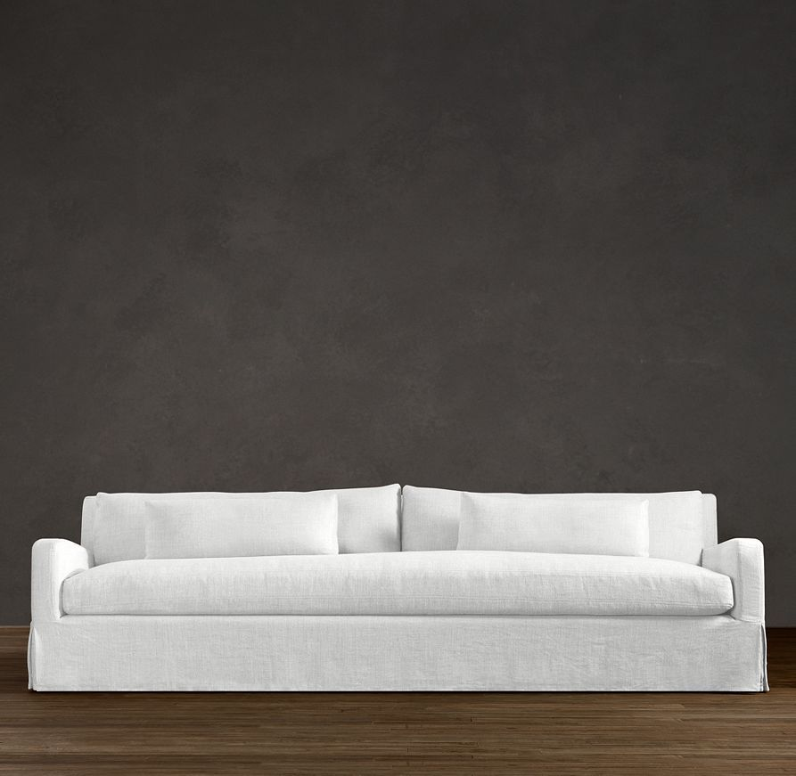 Super Long 8' Belgian Slope Arm Slipcovered Sleeper Sofa | Sleepers | Restoration Hardware